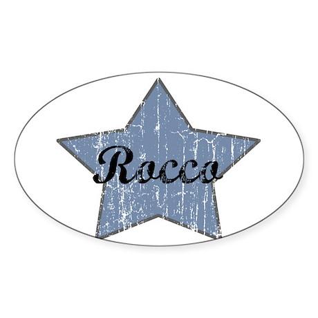 Rocco (blue star) Oval Sticker