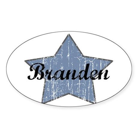 Branden (blue star) Oval Sticker
