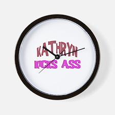 Kathryn Kicks Ass Wall Clock