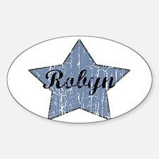 Robyn (blue star) Oval Decal