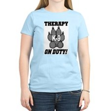 Therapy K9 On Duty Women's Pink T-Shirt