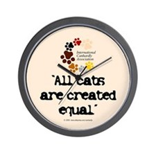 All cats created equal Wall Clock