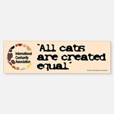 All cats created equal Bumper Bumper Bumper Sticker