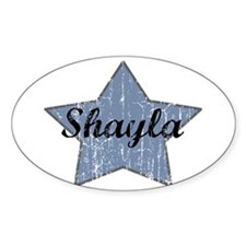Shayla (blue star) Oval Decal