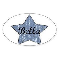 Bella (blue star) Oval Bumper Stickers
