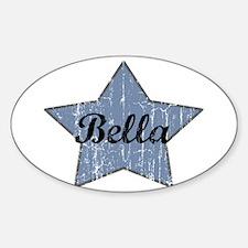 Bella (blue star) Oval Decal
