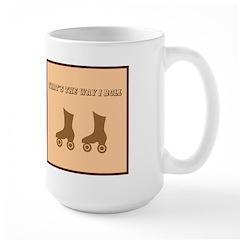 Brown Roller Skates Mug