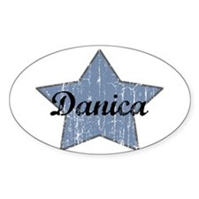 Danica (blue star) Oval Decal