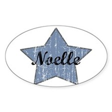 Noelle (blue star) Oval Decal