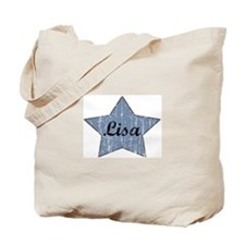Lisa (blue star) Tote Bag