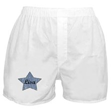 Lisa (blue star) Boxer Shorts