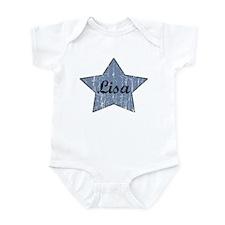 Lisa (blue star) Infant Bodysuit
