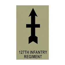 127th Infantry <BR>Sticker 1