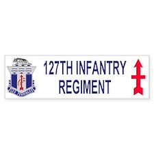 127th Infantry <BR>Bumper Sticker 2