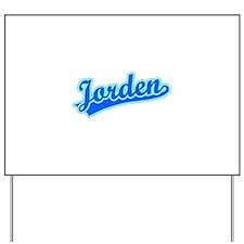 Retro Jorden (Blue) Yard Sign