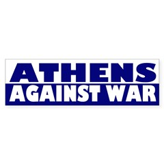 Athens Against War (bumper sticker)