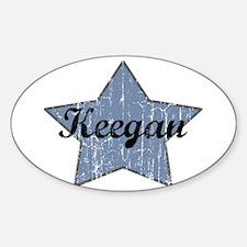Keegan (blue star) Oval Decal