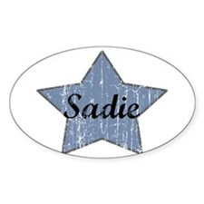 Sadie (blue star) Oval Decal