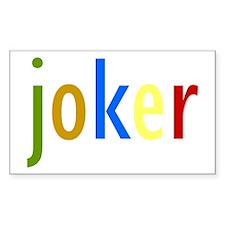 Joker (Clown Colors) Rectangle Decal
