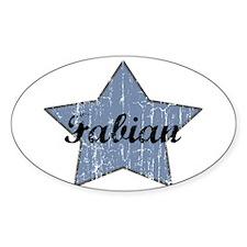 Fabian (blue star) Oval Decal