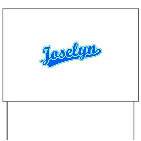 Retro Joselyn (Blue) Yard Sign