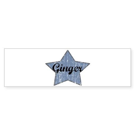 Ginger (blue star) Bumper Sticker