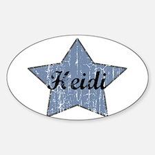 Heidi (blue star) Oval Decal