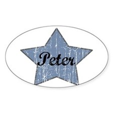 Peter (blue star) Oval Decal