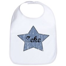 Zeke (blue star) Bib