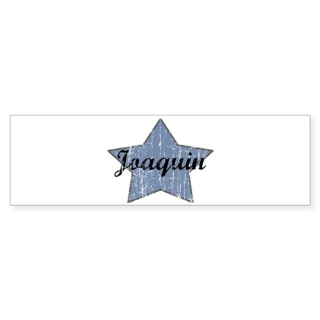 Joaquin (blue star) Bumper Sticker