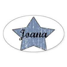 Joana (blue star) Oval Decal