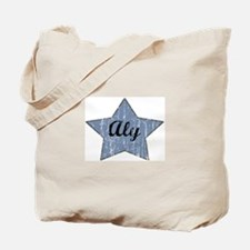 Aly (blue star) Tote Bag