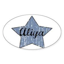 Aliya (blue star) Oval Decal