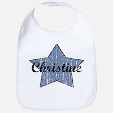 Christine (blue star) Bib