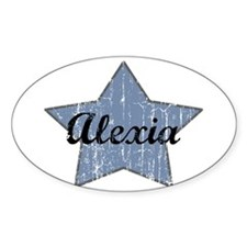 Alexia (blue star) Oval Decal