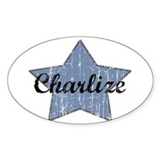 Charlize (blue star) Oval Decal