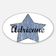 Adrienne (blue star) Oval Decal