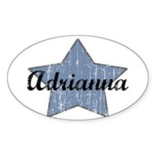 Adrianna (blue star) Oval Bumper Stickers