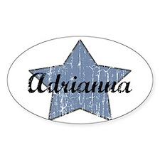 Adrianna (blue star) Oval Decal