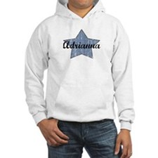 Adrianna (blue star) Hoodie Sweatshirt