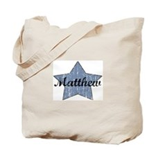 Matthew (blue star) Tote Bag