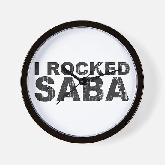 I Rocked Saba Wall Clock
