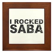I Rocked Saba Framed Tile