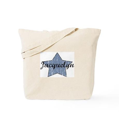 Jacquelyn (blue star) Tote Bag