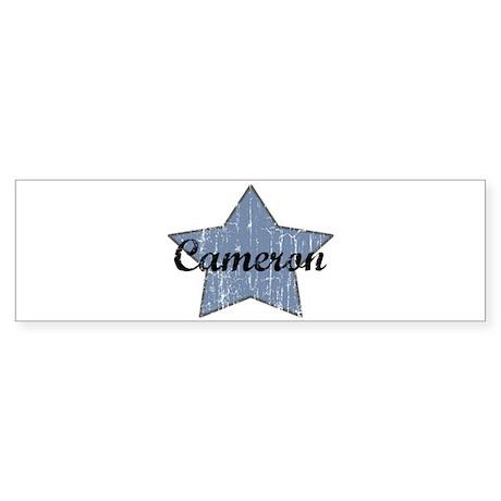 Cameron (blue star) Bumper Sticker