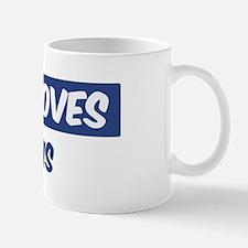 Jesus Loves Kurtis Small Small Mug