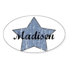 Madisen (blue star) Oval Decal