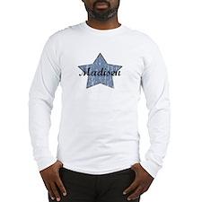 Madisen (blue star) Long Sleeve T-Shirt