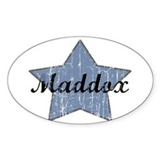 Maddox (blue star) Oval Decal