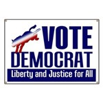 Vote Democrat for Liberty Banner
